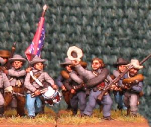 15mm, American Civil War Confederate Infantry AB 24 Figures